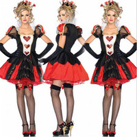 Wholesale NEW high quality Sexy Queen of Hearts costume Halloween witch Adult Fancy cosplay Alice nightclub Club wear Party Women costumes