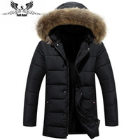 Wholesale 2016 new men s men down jacket winter hot jacket cotton men s original raccoon fur collar mens padded down jacket parkas m xl