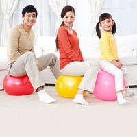 Wholesale 45CM Exercise Ball With Pump Antiburst Gym Yoga Fitness Ball Pregnancy Birthing