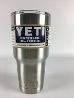 big mugs - 2016 High Quality Yeti Vacuum Cup Oz Stainless Steel Beer Mug Big Capacity Ramble Tumble Vehicle Insulation Coffee Cup Dhl