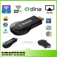 Wholesale Miradisplay MiraScreen OTA TV Stick Dongle Better Than EZCAST EasyCast Wi Fi Display Receiver DLNA Airplay Miracast Airmirroring Chromecast
