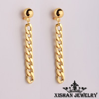 Wholesale 2016 personality chain earring earrings ear acupuncture jewelry popular in Europe and America popular prices