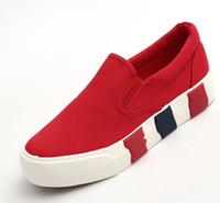 arrival platform shoes - 2016 brand new arrival platform pedal canvas shoes women spring summer brief casual shoes slip on solid color size