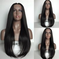 Wholesale 8A Malaysian Full Lace Human Hair Wigs For Black Women Straight Lace Front Human Hair Wigs With Baby Hair Glueless Full Lace Wig