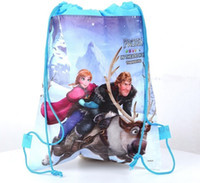 Wholesale Hot sale new Popular Frozen Bags Children School Bags Drawstring Backpack School Bag Party Gift