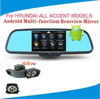 accent records - For HYUNDAI ALL ACCENT MODELS Original Android Multi function GPS Dual Car DVR Rearview Mirror Rear Camera PIP Biuetooth