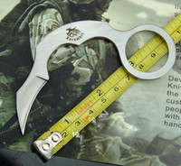 batch stainless steel - KARAMBIT Special Shape D2 Claw Knife Circle Handle One batch Forming Hunting Knife Fixed Blade Tactical Survival Knife