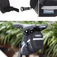 Wholesale 2016 NEW Roswheel Outdoor Cycling Waterproof Bicycle Bike Seatpost Bag Pouch Seat Saddle Rear Tail Package Black