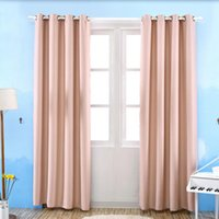 Wholesale Polyester Window Curtains cm Wide Width Grommet TopThermal Insulated Window Blackout Curtain Darken Drapes Colors