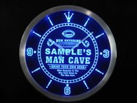Wholesale ncqa tm Name Personalized Custom Man Cave Football Bar Beer Neon Sign LED Clock