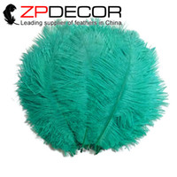 aqua clothing - Retail and cm inch Dyed Beautiful Aqua Green Wedding Ostrich Feather for Clothing Decoration