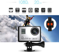 Wholesale AMKOV AMK7000S Wifi Waterproof Action Sport Camera P K MP quot LCD Watch Control Degree Wide Angle Compatible Gopro Accessories