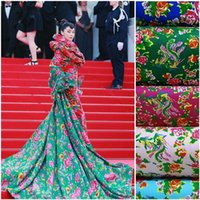 Wholesale Chinese Traditional Phoenix Opera Peony Flowers Cotton Cloth For Diy Craft Handmade Fabric Cloth