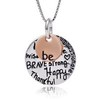 Wholesale GNX0289 Be What You Wanna Be Fashion Jewelry Sterling Silver Two Tone Charms Necklace Gifts For Women