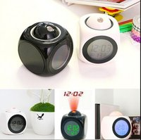 Wholesale Excellent Quality Multifunction Vibe LCD Talking Projection Alarm Clock Time And Temp Display New