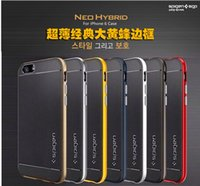 Wholesale SGP Neo Bumblebee Hybrid Case Heavy Duty Rugged Slim Armor Shell for iPhone s plus s SE Samsung S7 S6 Edge Plus On5 G530 LG G5 K7