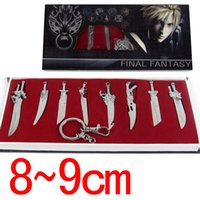 Wholesale set Game Anime Cartoon Final Fantasy Weapons Metal Sword Cosplay Model Matel Swords xmas gift with original box