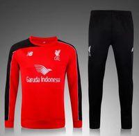 away liverpool - 2015 men Liverpool jerseys jacket coat trousers soccer training Suit GERRARD LALLANA LOVREN COUTINHO FIRMINO HENDERSON Home Away jersey