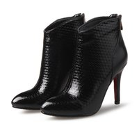 artificial leather material - Spring and Autumn new women sexy boots simple boots PU material Artificial short plush inside with high cm ID