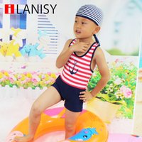athletic swimsuits - UV Sun Protective boys swimwear sale T kids striped swimwear athletic kids swimming trunks boy swimsuit