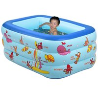 Wholesale Children s Inflatable Fishing Pond Baby Toys pool summer Cartoon Meters Baby Swimming Pool