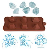 Wholesale High quality Silicone Freeze Jelly Baking Cookie Ice Cubes Jewels Diamond Shape Mold Tray DIY Pudding Mould