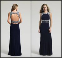 beaded radiance - Gemstone Radiance Evening Dresses Jersey Column Full Length Formal Gowns Custom Sexy Backless Special Occasion Dresses VC Jewel Neck