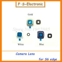 Wholesale 10 Replacement Rear Back Main Camera Module Lens Ring Cover for Samsung Galaxy S6 Edge G925 Camera Lens Glass