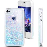 Moda Diseño Creativo Flujo Líquido Flotante Lujo Bling Glitter Sparkle Love Heart Estuche duro para Apple iPhone 4 4s 5 5s 6 6 plus
