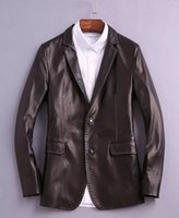 best websites designs - Men s leather suit official website same item fasion show item sheepskin made best material original button good design wear luxury fasion