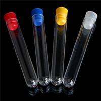 Wholesale Hot High Hardness Disposable U shaped Clear Plastic Test Tubes mm x mm Push Caps Colors Stopper Lab Teach Supplies