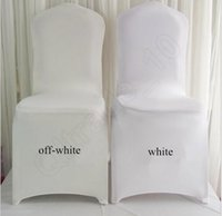 Wholesale White Spandex Polyester Folding Chair Covers Wedding Party Hot Universal Banquet Chair Flat Covers OOA590