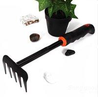 Wholesale Black Rubber Handle Gardening Rake Handwork Garden Tools can be sturdy and durable Good Helper