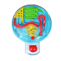 ball control games - New Early Educational Plastic Maze Hand Control Steel Ball Handle Novelty Game Gift D Ball Maze Puzzle Adult Kids Intellect Toy