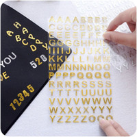 alphabet phone number - 24 Gold Silver Twinkle stickers Number Alphabet sticker for book photo phone Stationery School supplies