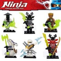 Wholesale Ninja Minifigures building blocks action figures Zane General Kozu Yang Pythor Building Blocks set Brick Ninja Toy Christmas gift