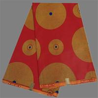 batik dress material - Nice red with gold batik ankara material African real cotton wax fabric for wedding dress WF384 yards pc