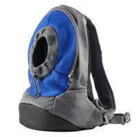 REAMIC mochilas de viaje de mascotas pequeño perro y para el gato al aire libre ambos bolso de hombro fácil de usar rosa rojo y azul