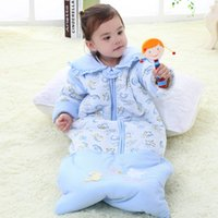 baby sleeping bags with sleeves - Infant and Baby Thickened Lengthened Anti kicking Sleeping Bag with Detachable Sleeve for Winter