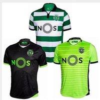 Wholesale DHL send Soccer Jersey Sporting Lisbon Jersey de futbol Luis Figo Nani TEO Slimani William Montero Home Away Football Shirts Top Quali