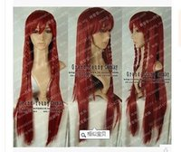 area wigs - Heat Resistant gt gt The Oriental Project area red beautiful Bell Cosplay Dark Red Wig