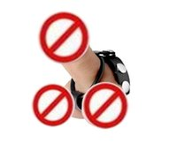 Wholesale Leather Cock And Ball Harness Rubber Ball Stretcher Ring Leather Penis Ring Cock Ring Sex Toys For Men