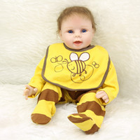bee foam - NPK Collection Silicone Vinyl Baby Dolls Boy Inch Realistic Reborn Kids Wearing Yellow Bee Clothes Kids Birthday Xmas Gift