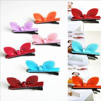 Wholesale New Arrival styling tools Cute Multicolor rabbit ears hairpin headwear hair accessories for women girl children make you fashion