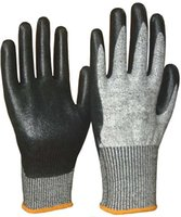 Wholesale sbamy high quality cut resistance black foam nitrie glove pairs packing seamless knitted super flex NBR glove economic style glove