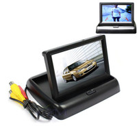 Wholesale Auto Parking Assistance New LED Night Vision Car CCD Rear View Camera With inch Color LCD Car Video Foldable Monitor Camera