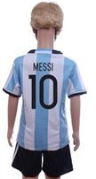 argentina winter - 2016 messi argentina strips kids child youth soccer football jersey set