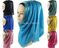 Wholesale pieces muslim long scarf islamic hijab scarf assorted colors QK012