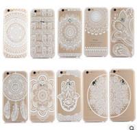 Белых слонов Цены-Хна Белый Цветочные Пейсли Цветочные Mandala слон Ловец снов Жесткий чехол назад компьютер Обложка для iPhone 7 6 6S Plus SE 5S