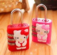 Wholesale Fashion Lock Girl Gift Diary Book Secret Children Cartoon Padlock Travel Lugage Bag Lock With Retail Packing Per